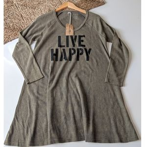 Natural Life Live Happy Tunic Dress